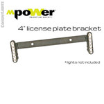License Plate Bracket, Vertical Mount for 4 Inch mpower Fascia Lights w/ Stud Mount