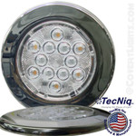 "Interior Dome Light LED Surface Mount 4"" Round 12V LIfeTime Warranty USA"