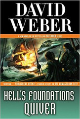 Hell's Foundations Quiver: the latest novel in David Weber's New York Times-bestselling Safehold series begun with Off Armageddon Reef, By Schism Rent Asunder, By Heresies Distressed, A Mighty Fortress and Like a Mighty Army.  TURNING OF THE TIDE  Centuries ago, the human race fought its first great war against an alien race-and lost. A tiny population of human beings fled to distant Safehold. Centuries later, their descendants have forgotten their history; for them, life has been an eternal Middle Ages, ruled by the Church of God Awaiting, whose secret purpose is to prevent the re-emergence of industrial civilization.  But not all of Safehold's founders were on board with this plan. Those dissidents left behind their own secret legacies. One of those is Merlyn Athrawes, cybernetic avatar of one of Earth's long-dead defenders, now reawakened after a thousand years to restart human progress and reclaim our place in the universe. Merlyn has intervened in the small Safeholdian realm of Charis, seeding it with ideas and innovations and helping it to rise to challenge the hegemony of the Church.  It's been a long and bloody fight, but aided by a stream of inventions--breech-loading rifles, signal rockets, claymore mines, new approaches to manufacturing and supply-Charis and its few allies seem to have finally gained the upper hand. Now major realms have begun to consider switching sides.  To all these ends, Merlyn Athrawes has been everywhere, under multiple disguises and wielding hidden powers. The secret of who and what he is has been closely held. But a new player has arrived, one who knows many secrets-including Merlyn's own.