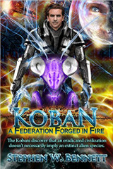When the enemy discovers their hidden home, Mirikami is forced to lead 117 Kobani ships in a desperate attack against 3,000 Krall ships and uncounted warriors. Armed with a 22,000-year-old computer virus, and sheer courage, they must disable every enemy ship and weapon. The last time this tactic was tried against them, the Krall eradicated the entire Olt'kitapi civilization.  That's just one foe the Kobani face. The PU president rejects diplomatic recognition of the new Galactic Federation, and diplomat Mirikami is ordered arrested for genetic crimes and for provoking Krall attacks on Hub worlds. To reveal the president's duplicity in a secret deal with the Krall leader, he accepts a life or death challenge fight with an old enemy, right on the capitol steps, with news cameras rolling.  Then, proving the galaxy remains a dangerous place, the huge Thandol Empire, a former Olt'kitapi enemy, forcefully announces that its elephantine rulers intend to annex the Orion Spur. That happens to be where both the Kobani led Galactic Federation, and Human Space reside. Naturally, the Kobani decline the Empire's violently phrased demands, doing it in their typically harsh and forceful manner.  In leading up to that confrontation, the Kobani learn the basis of the Empire's claim to Federation Space, and it predates the Krall conquests. The prior owners may have a claim. The Empire's initial punitive reaction to Kobani rejection reveals they have a pain causing nerve weapon, used for crowd control in the Empire. This mild sounding weapon proves to be devastating to those with organic superconducting nerves. Life on Koban could be wiped out by a riot control ship.
