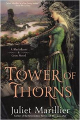 """Award-winning author Juliet Marillier's """"lavishly detailed""""* Blackthorn & Grim series continues as a mysterious creature holds an enchanted and imperiled ancient Ireland in thrall.  Disillusioned healer Blackthorn and her companion, Grim, have settled in Dalriada to wait out the seven years of Blackthorn's bond to her fey mentor, hoping to avoid any dire challenges. But trouble has a way of seeking out Blackthorn and Grim.  Lady Geiléis, a noblewoman from the northern border, has asked for the prince of Dalriada's help in expelling a howling creature from an old tower on her land—one surrounded by an impenetrable hedge of thorns. Casting a blight over the entire district, and impossible to drive out by ordinary means, it threatens both the safety and the sanity of all who live nearby. With no ready solutions to offer, the prince consults Blackthorn and Grim.  As Blackthorn and Grim begin to put the pieces of this puzzle together, it's apparent that a powerful adversary is working behind the scenes. Their quest is about to become a life and death struggle—a conflict in which even the closest of friends can find themselves on opposite sides."""
