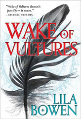"""""""Wake of Vultures will kick your a** up one page and down the other."""" -- io9  Monsters, magic and the supernatural combine in this epic debut where a young woman must defeat the evil hiding beneath the surface.  Nettie Lonesome dreams of a better life than toiling as a slave in the sandy desert. But late one night, a stranger attacks her -- and Nettie wins more than the fight.  Now she's got everything she ever wanted: friends, a good horse, and a better gun. But if she can't kill the thing haunting her nightmares and stealing children across the prairie, she'll lose it all -- and never find out what happened to her real family. The Shadow will begin a journey that leads her to the darkest chambers of the heart -- if only she can survive.  Wake of Vultures is the first novel of the Shadow series and introduces Nettie Lonesome, who is much more than she seems."""