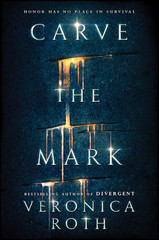 """Here's what you need to know: Roth's first book set outside of the Divergent universe is called Carve the Mark, its cover is gorgeous, it's the first in a series, and, be still my heart, it's a sci-fi fantasy novel that takes place in a galaxy far, far away. In a world where everyone grows into a power known as their currentgift, some powers are made to be exploited. Cyra's ability, one that """"gives her pain and power,"""" means she's used by her brother, the tyrannical ruler of the Shotet people, as a tool of torture. Akos is a son of the peaceful Thuvhe people, but finds he's willing to do whatever it takes to win his brother's freedom when the two are abducted by Shotet soldiers.  Will these two natural enemies come face to face? Yes, they will. Will they have to work together or die? All signs point to yes! Will they maybe, possibly develop an intense hatred-to-love bond (or…romance)? Only Roth and her editor know, so why am I already shipping these characters I haven't met?  We'll all learn everything there is to know on…January 17 of next year. Yes, it's a long time to wait, but we're pretty sure the wait will be worth it."""