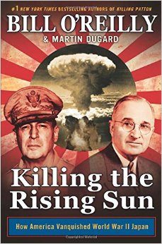 Autumn 1944. World War II is nearly over in Europe but is escalating in the Pacific, where American soldiers face an opponent who will go to any length to avoid defeat. The Japanese army follows the samurai code of Bushido, stipulating that surrender is a form of dishonor. Killing the Rising Sun takes readers to the bloody tropical-island battlefields of Peleliu and Iwo Jima and to the embattled Philippines, where General Douglas MacArthur has made a triumphant return and is plotting a full-scale invasion of Japan.  Across the globe in Los Alamos, New Mexico, Dr. J. Robert Oppenheimer and his team of scientists are preparing to test the deadliest weapon known to mankind. In Washington, DC, FDR dies in office and Harry Truman ascends to the presidency, only to face the most important political decision in history: whether to use that weapon. And in Tokyo, Emperor Hirohito, who is considered a deity by his subjects, refuses to surrender, despite a massive and mounting death toll. Told in the same page-turning style of Killing Lincoln, Killing Kennedy, Killing Jesus, Killing Patton, and Killing Reagan, this epic saga details the final moments of World War II like never before.