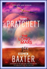 """The third novel in Terry Pratchett and Stephen Baxter's ""Long Earth"" series, which Io9 calls ""a brilliant science fiction collaboration.""  2040-2045: In the years after the cataclysmic Yellowstone eruption there is massive economic dislocation as populations flee Datum Earth to myriad Long Earth worlds. Sally, Joshua, and Lobsang are all involved in this perilous rescue work when, out of the blue, Sally is contacted by her long-vanished father and inventor of the original Stepper device, Willis Linsay. He tells her he is planning a fantastic voyage across the Long Mars and wants her to accompany him. But Sally soon learns that Willis has an ulterior motive for his request...  Meanwhile U. S. Navy Commander Maggie Kauffman has embarked on an incredible journey of her own, leading an expedition to the outer limits of the far Long Earth.  For Joshua, the crisis he faces is much closer to home. He becomes embroiled in the plight of the Next: the super-bright post-humans who are beginning to emerge from their ""long childhood"" in the community called Happy Landings, located deep in the Long Earth. Ignorance and fear have caused ""normal"" human society to turn against the Next. A dramatic showdown seems inevitable...""  While there's a part of me super excited to read this right away, there's also a part of me that's not sure... the first book was amazing, the second was kind of meh... plus Mars, really?"