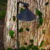 LED Circular Shade Brass Pathway Light LED-PPG031 Black In Scene