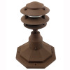 3 Tier Pagoda Post Light PPC350 in Rust with PP12 Base