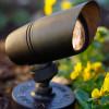 Rugged Mini Brass Spotlight PSLDX11 in bronze In scene