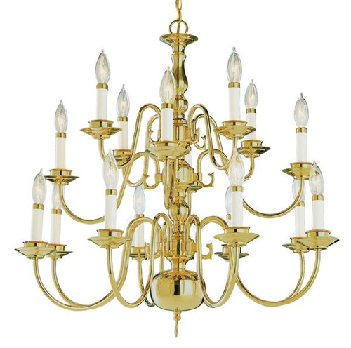 16 Light Williamsburg Chandelier 10161PB