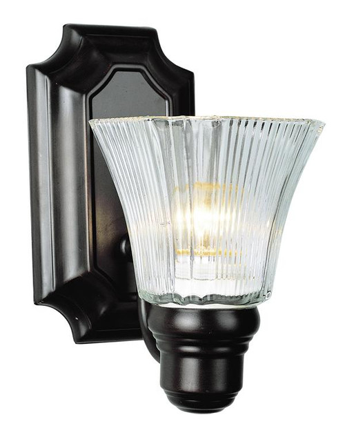1 Light Rubbed Oil Bronze Bath Sconce 2501ROB