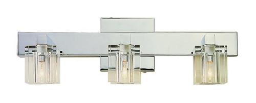 3 Light Chrome Crystal Halogen Bath Sconce 2843PC