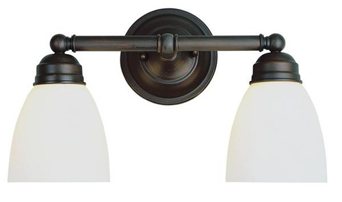 2 Light Rubbed Oil Bronze Bath Sconce 3356ROB