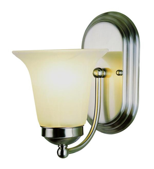 1 Light Polished Chrome Bath Sconce 3501PC