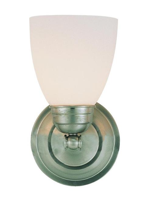 1 Light Brushed Nickel Bath Sconce 3355BN