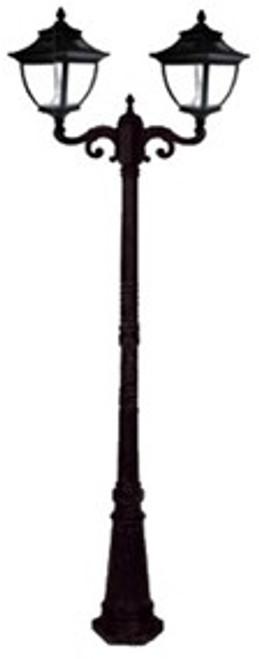 Pagoda Solar Lamp Post GS-104D in black
