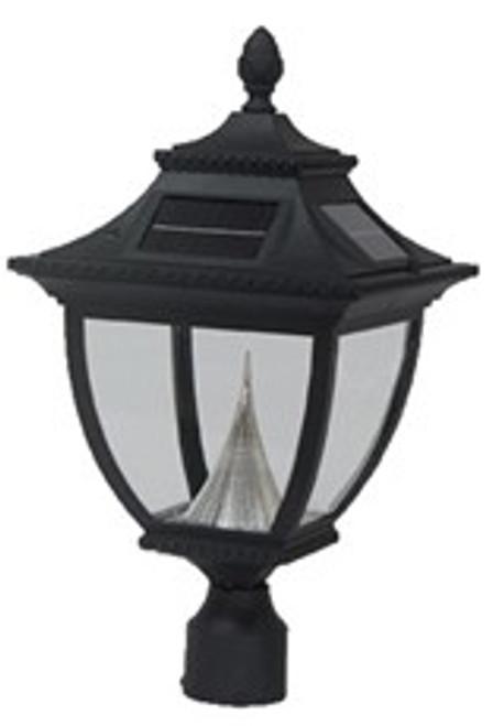 Pagoda Solar Lamp Post Top Lantern GS-104F (shown in black)