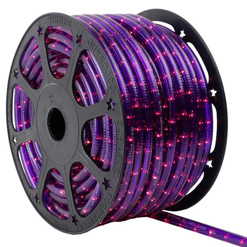 120V 3 Wire Incandescent Purple Chasing Rope Light - 150 Ft