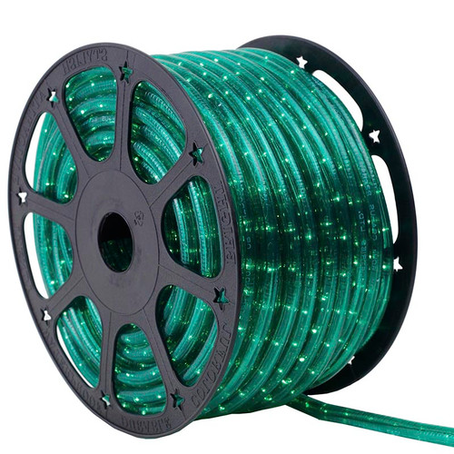 120V 3 Wire Incandescent Green Chasing Rope Light - 150 Ft