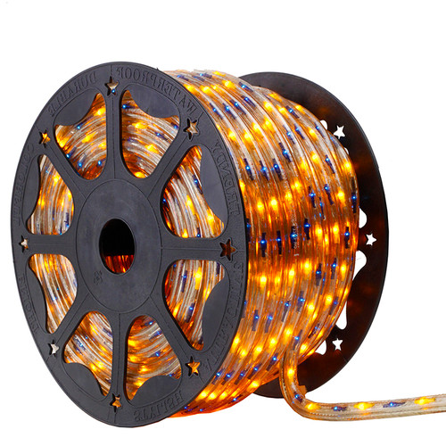120V 3 Wire Incandescent Bi-Color Blue & Yellow Chasing Rope Light - 150 Ft