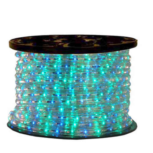 120V 3 Wire Incandescent Blue & Green Chasing Rope Light - 150 Ft