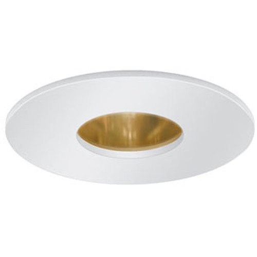 """12V 3"""" Pinhole Trim with Reflector White on Gold"""