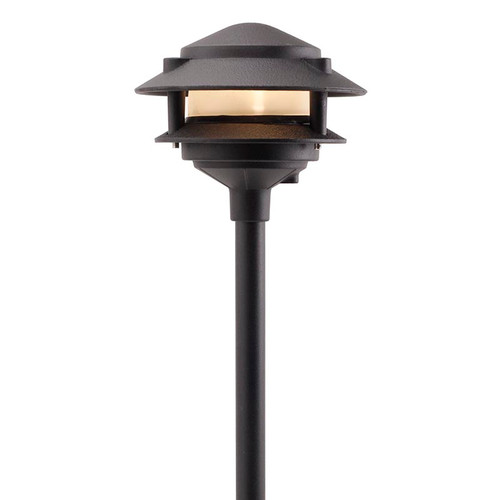 LED 2 Tier Pagoda Light LED-PAT2R Black