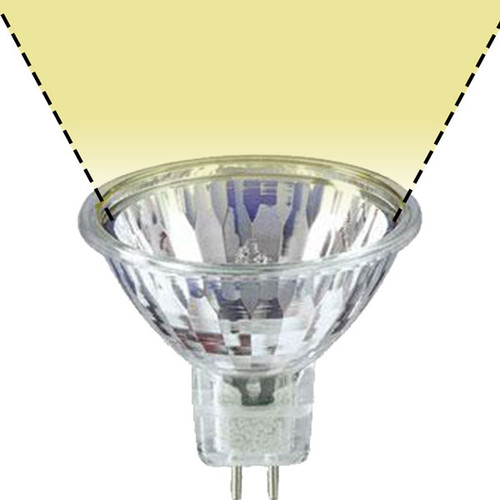 12V 20w Clear Halogen MR16 BABSW SureColor Wide Flood Light Bulb