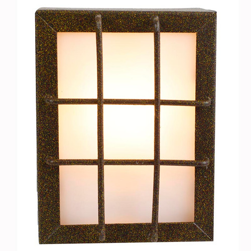 "12V LED 4"" Segmented Window Stamped Brass Deck Light PDLED51"