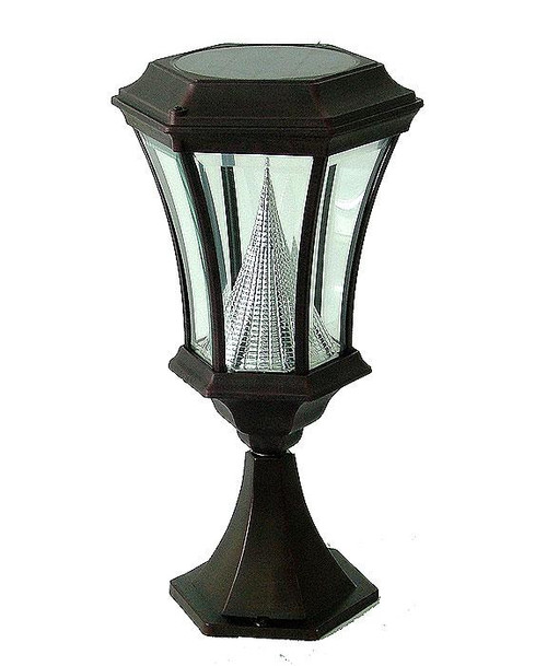 Victorian Post Mount Solar Light PWGS94P-BK (shown in black)