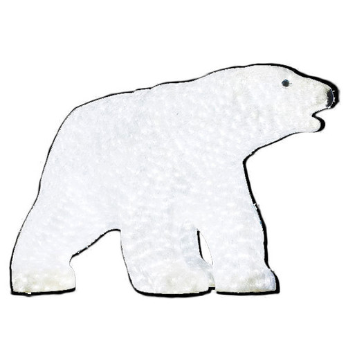 LED Big Daddy Polar Bear Acrylic Sculpture