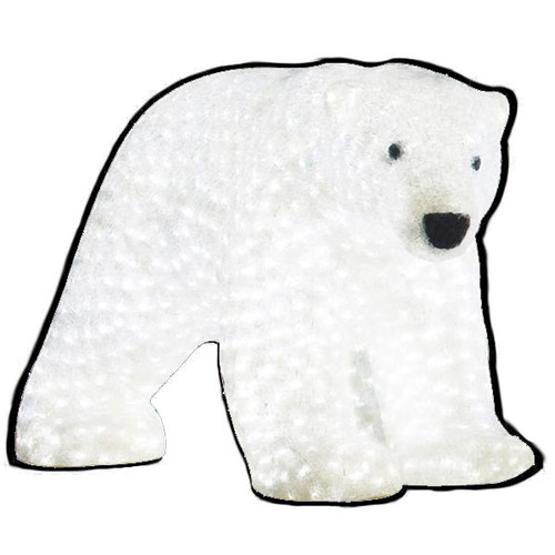 LED Big Mommy Polar Bear Acrylic Sculpture