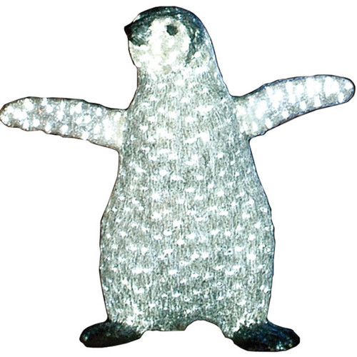 LED Baby Penguin Acrylic Sculpture