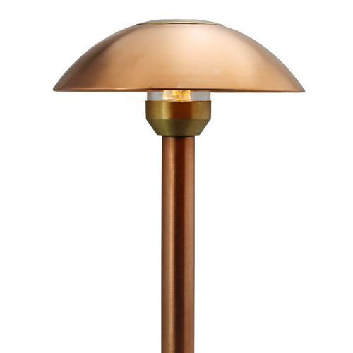 LED Raw Copper Dome Path Light LED-PASH-AQ115-CP