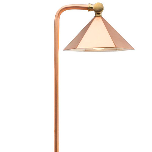 LED Raw Copper Hex Shade Pathway Light