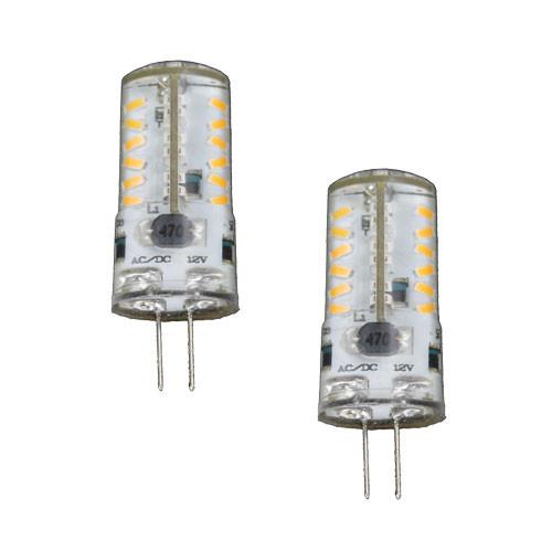 12V 3.5W COOL WHITE LED CRYSTAL JC BI PIN LIGHT BULB AQY-557 2x