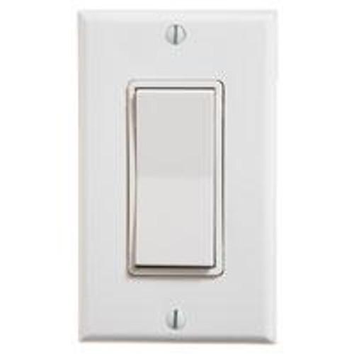 Single Rocker Wireless Switch (shown in white)