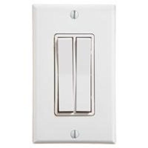 Dual Rocker Wireless Switch (shown in white)