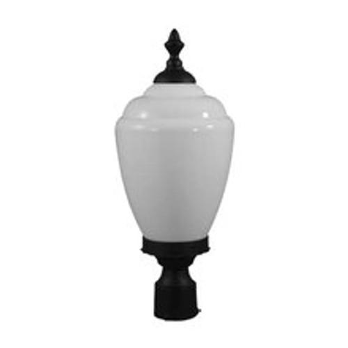 120V Fluorescent Alisa Post Top Mount Light GM286 Black