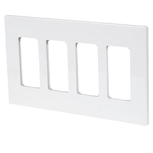 ASPIRE 4 Gang Screwless Wall Plate 9524 (shown in white satin)