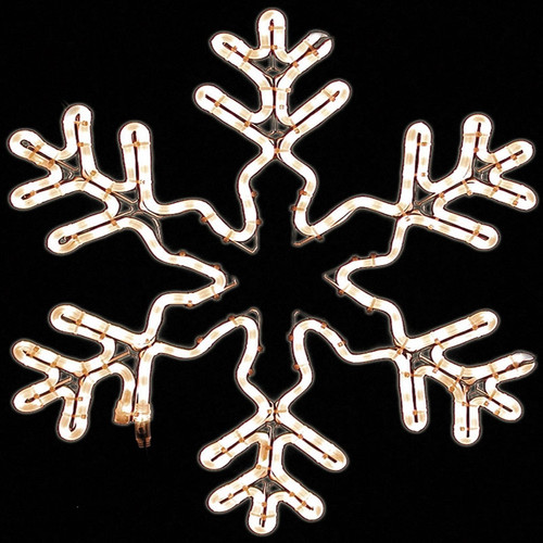 LED 6 Open Point Snowflake Ropelight Motif