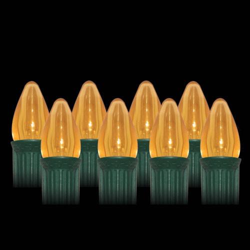 LED Orange Smooth C7 Light Bulbs