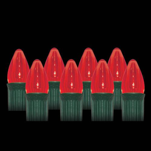 LED Red Smooth C7 Light Bulbs