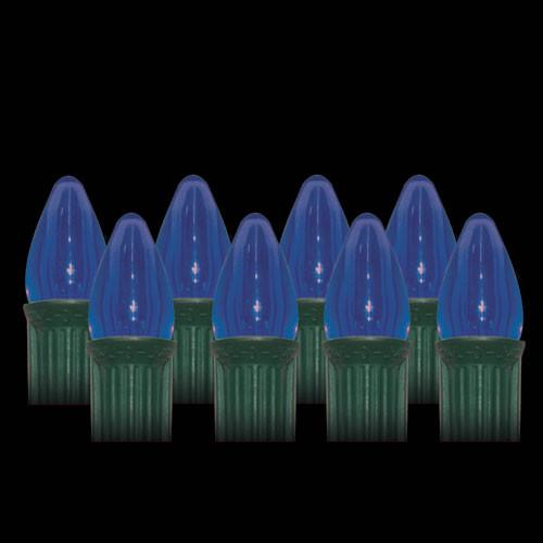 LED Blue Smooth C7 Light Bulbs