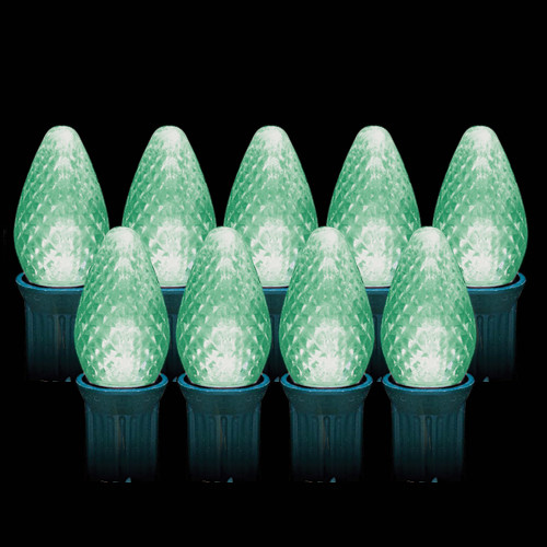 LED Green Faceted C7 Light Bulbs (25 count)