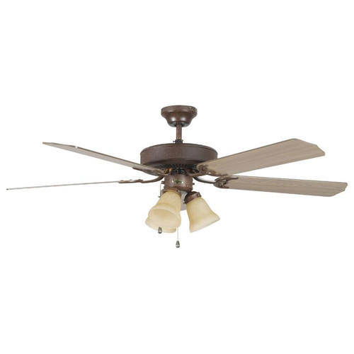 """52"""" Heritage Home Rubbed Bronze Ceiling Fan"""
