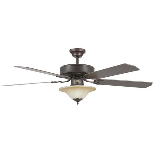 """52"""" Heritage Square Oil Rubbed Bronze Ceiling Fan"""