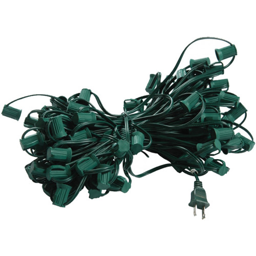 100' C9 Plug In Lighting Strand (shown in green)