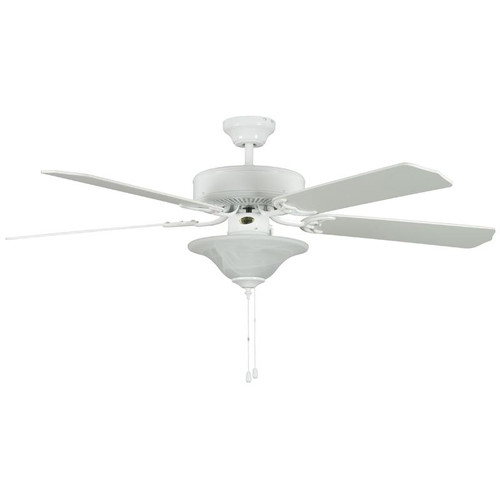 """52"""" Heritage Square White Ceiling Fan"""