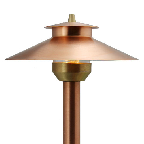 Raw copper 2 tier area light pash aq212 rc by aql for Copper landscape lighting