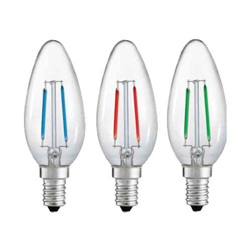 120V LED Colored Torpedo Candelabra Bulbs - 41177